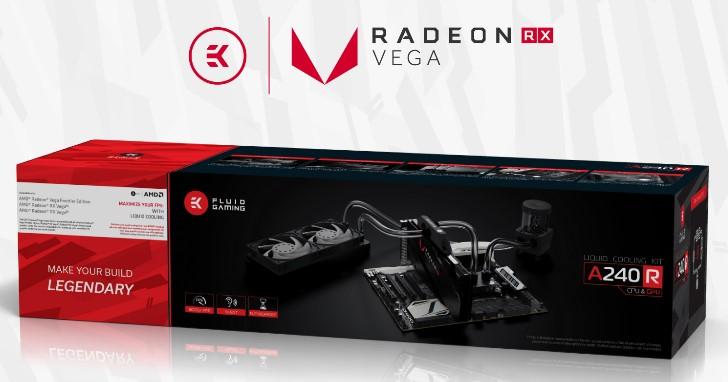 新增 AMD Radeon Vega 全覆式冷頭,EKWB 推出 EK Fluid Gaming A240R 套件