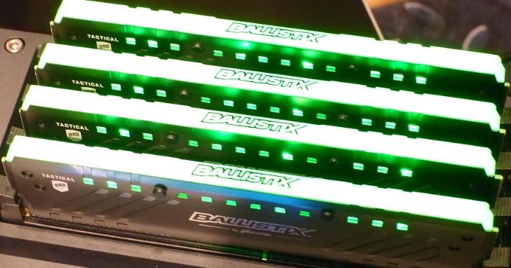 Micron Ballistix Tactical Tracer RGB DDR4 農曆年前上市,效能與視覺全面強化