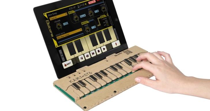 沒有 Switch 沒關係,自己用 KAMI-OTO 套件打造瓦楞紙電子琴