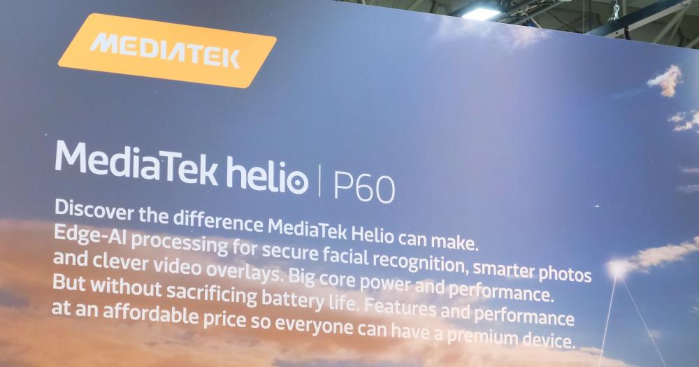 聯發科首款 AI 處理器發表,Helio P60 手機第二季上市