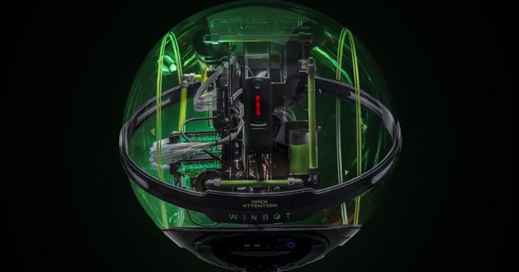 360 度環景舒適座艙,In Win 透明球型 WINBOT 機殼開賣價超過 10 萬元