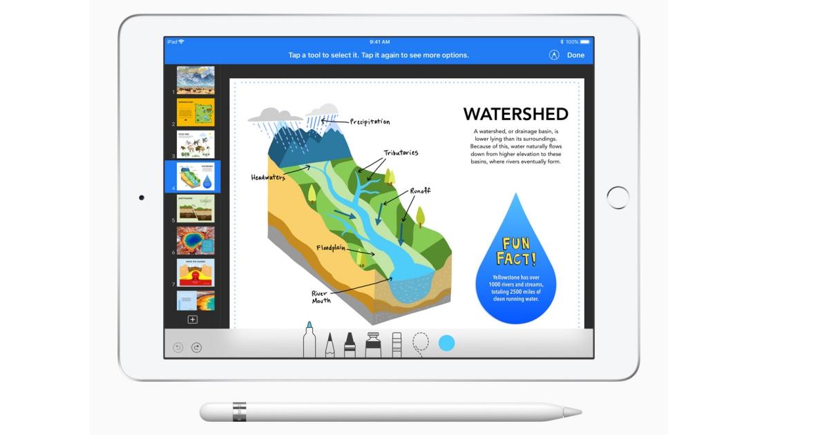 iWork 功能更新,可讓 Pages 當提詞機、可用 Apple Pencil 在文書軟體上畫畫