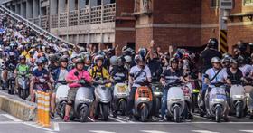 台北市宣佈,5/1日起所有電動機車將可免費停停車格