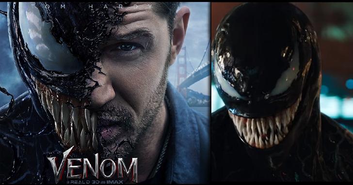 漫威反英雄第一人,蜘蛛人衍生電影《猛毒》 Venom 首支變身預告釋出