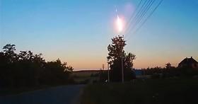 上週拍攝到俄羅斯上空發生流星爆炸現象