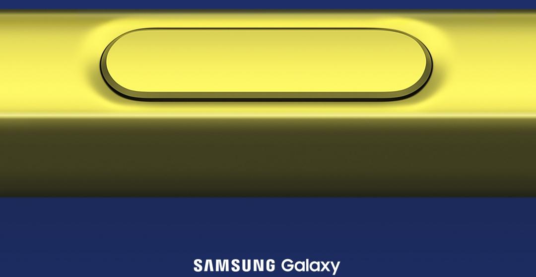 三星 Galaxy Note 9 確認 8/9 發表!金色 S Pen 現身於預告中