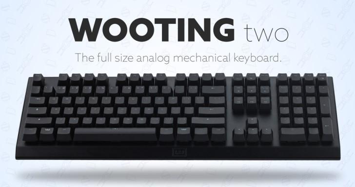 Wooting Two類比鍵盤終於有100%全尺寸,還有黑軸、青軸可自由更換