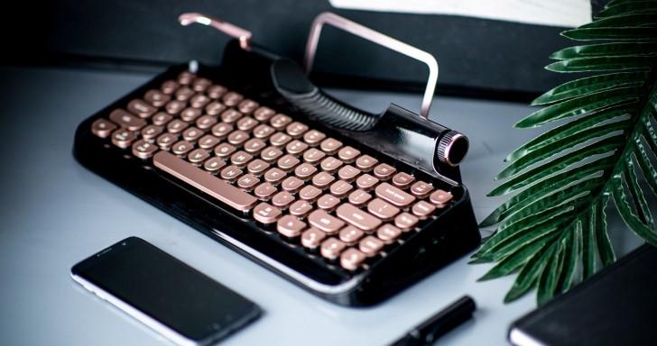 Rymek復古鍵盤更假掰,還有虛擬連桿還原打字機體驗