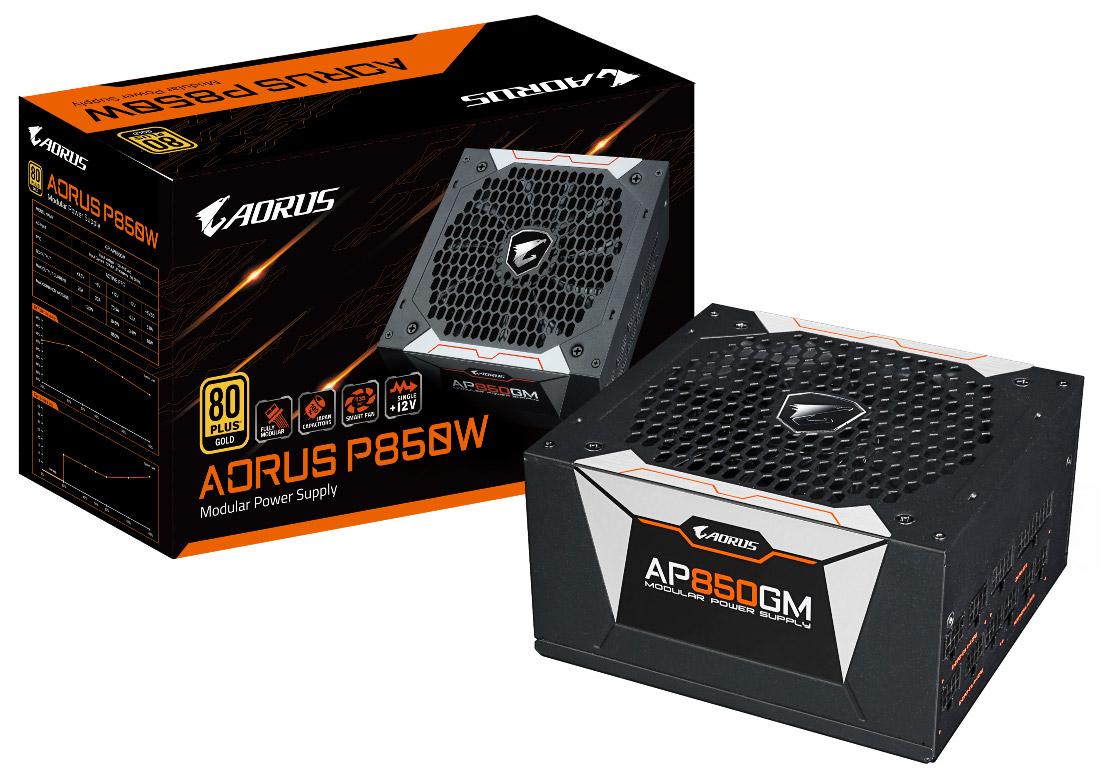 技嘉推出首款 AORUS 系列電源供應器 P850W 與 P750W 金牌省電效能 提供玩家高品質與穩定的電競能量