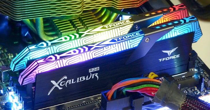 Team Group 王者之劍出鞘,T-FORCE XCALIBUR RGB DDR4-3600 特仕版記憶體測試