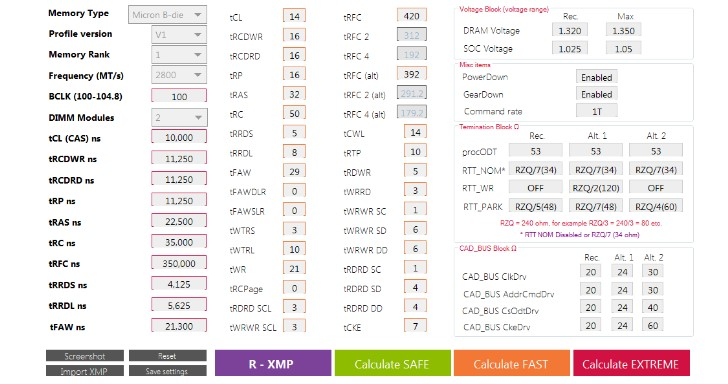 AMD 處理器記憶體超頻時序計算工具,Ryzen DRAM Calculator 推出 1.3.1 版
