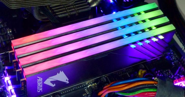買二送二的 RGB 記憶體模組,GIGABYTE AORUS RGB Memory 3200MHz 開箱測試