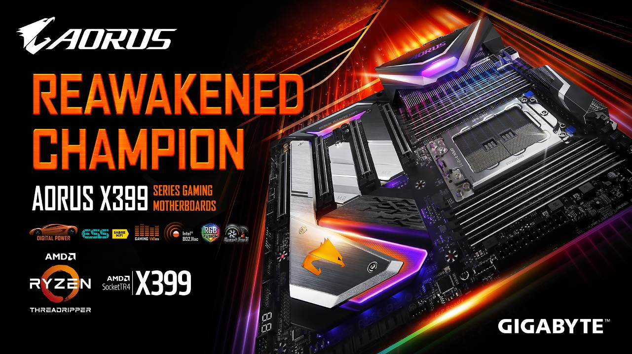 技嘉推出最新X399 AORUS XTREME主機板 喚醒全新32核心AMD Ryzen™ Threadripper™處理器的冠軍魂