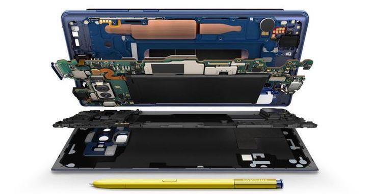 三星 Note9 已經被人拆開了:這導熱管體積有點嚇人