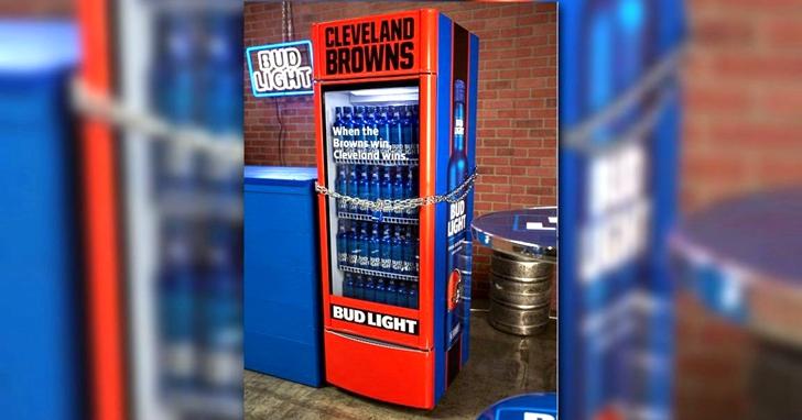 這款智慧型冰箱,只有在克里夫蘭布朗隊贏球時才會打開