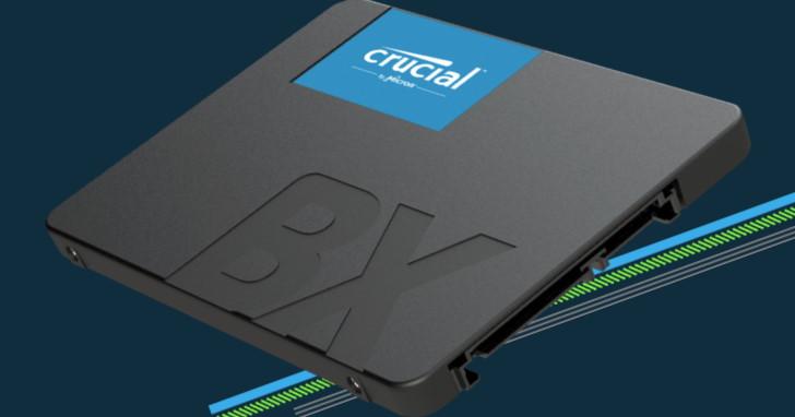 Micron 續推入門級 SATA 6Gb/s BX500 SSD,480GB 開賣價美金 90 元