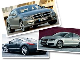 小編的名車夢:M-Benz CLS、Audi A7 Sportback、Peugeot RCZ