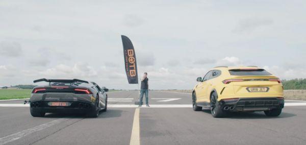 「休旅牛」到底有幾分本事?Lamborghini Urus x Huracan 拼輸贏「直線加速」影片出爐!