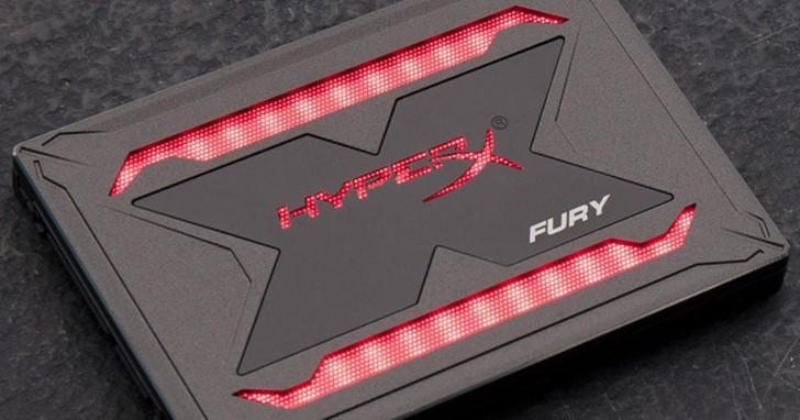就是要 RGB 發光效果!Kingston HyperX Fury RGB SSD 開始出貨