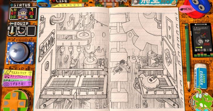萬幅手稿編織童年夢!手繪風遊戲《RPG時間:Wright的傳說》將設計師的童年筆記本做成遊戲