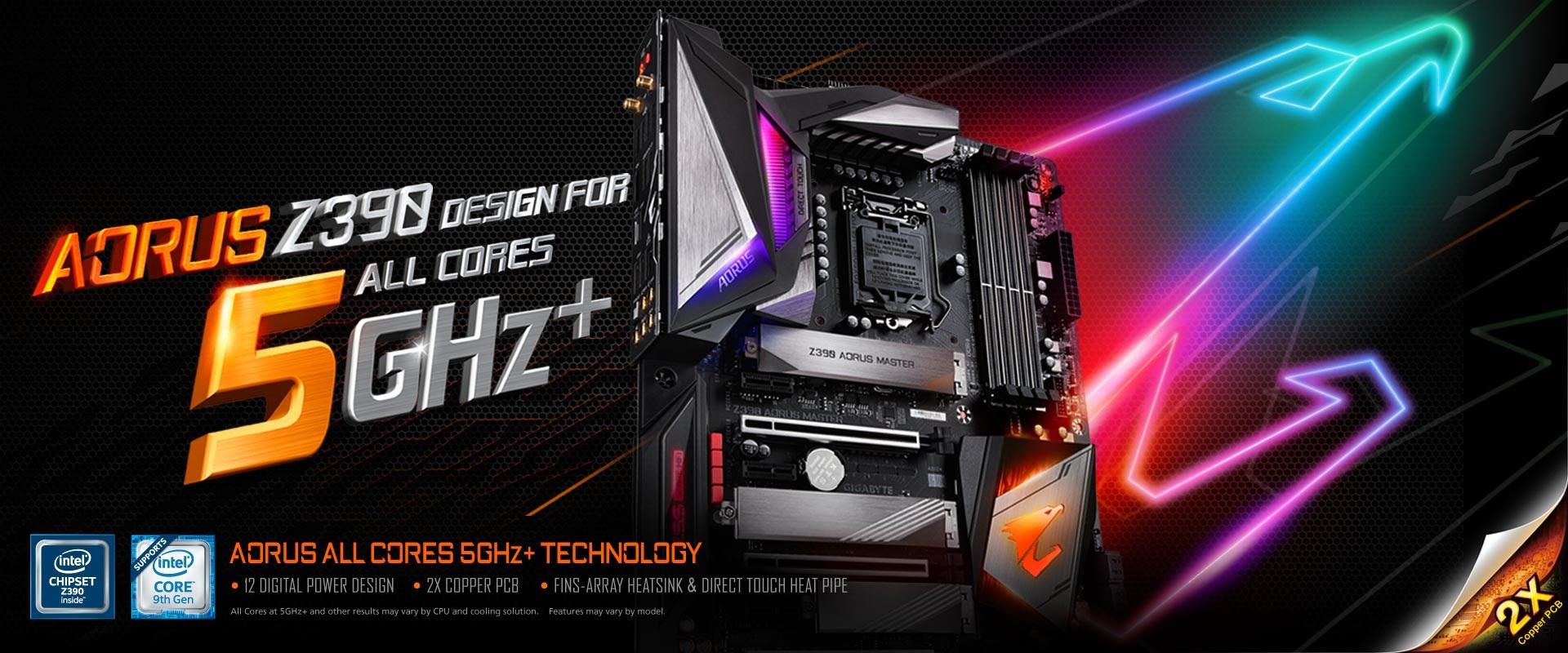 技嘉Z390 AORUS電競主機板轟動上市