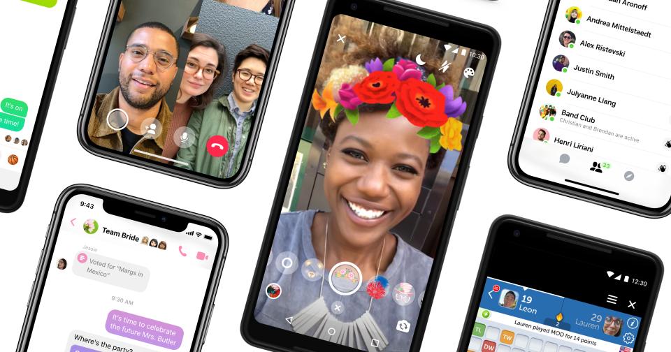 Facebook終於著手整頓Messenger App門面,迎來精簡化介面、黑暗模式與自定義聊天對話框