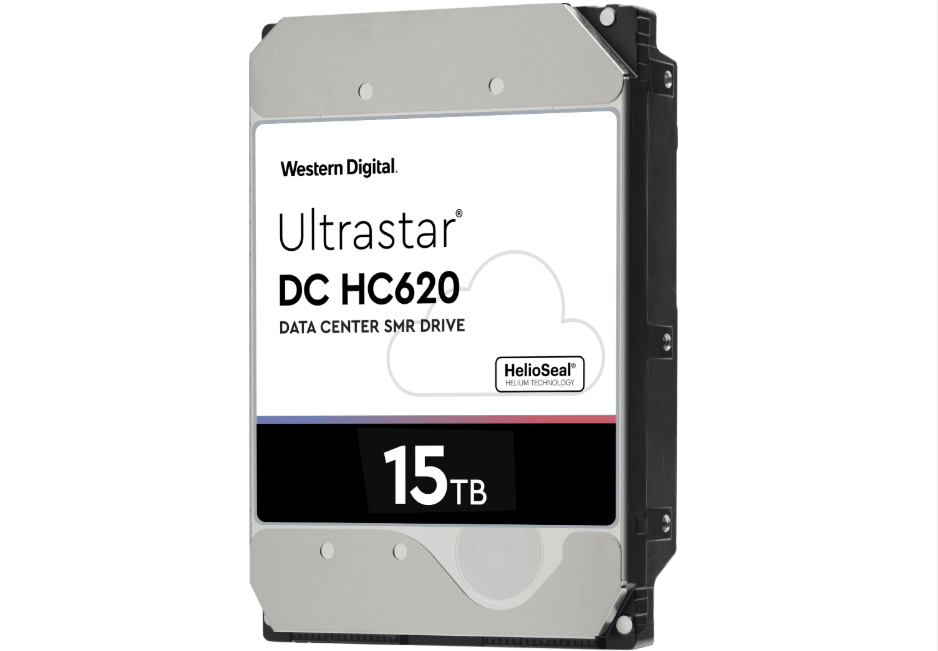 Western Digital持續在企業級硬碟領域領先  新推出的15TB Ultrastar DC HC620硬碟運用SMR技術提升磁碟密度