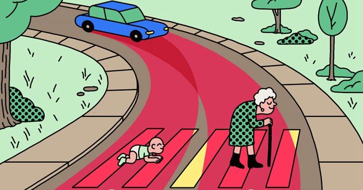 Google 的無人車 Waymo都要開始上路收費了,但發生「電車難題」時「該」撞誰?