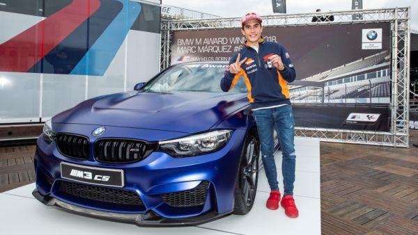 都給你就飽了! MotoGP 現役世界冠軍 Marc Márquez 六奪 BMW 桿位獎,歡喜收下全新M3 CS!
