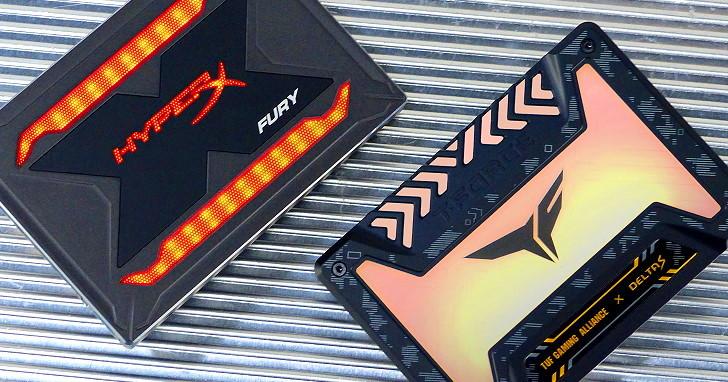電競主機別少這一味,T-FORCE DELTA S TUF Gaming RGB SSD 與 HyperX FURY RGB SSD 測試