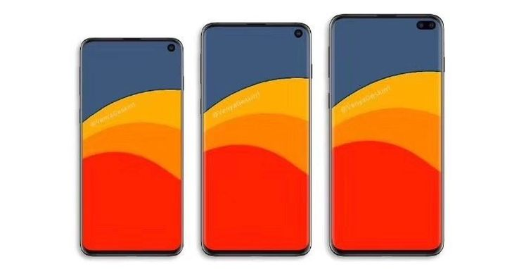三星 Galaxy S10 圖片流出,將採用全新鑽孔螢幕設計