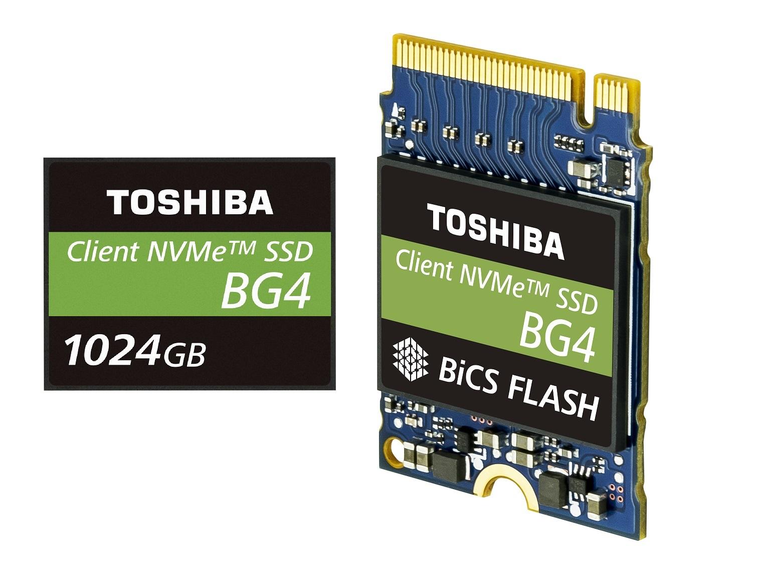 東芝記憶體推出 1TB單一封裝 PCIe Gen3 x4L 固態硬碟配備 96 層 3D 快閃記憶體