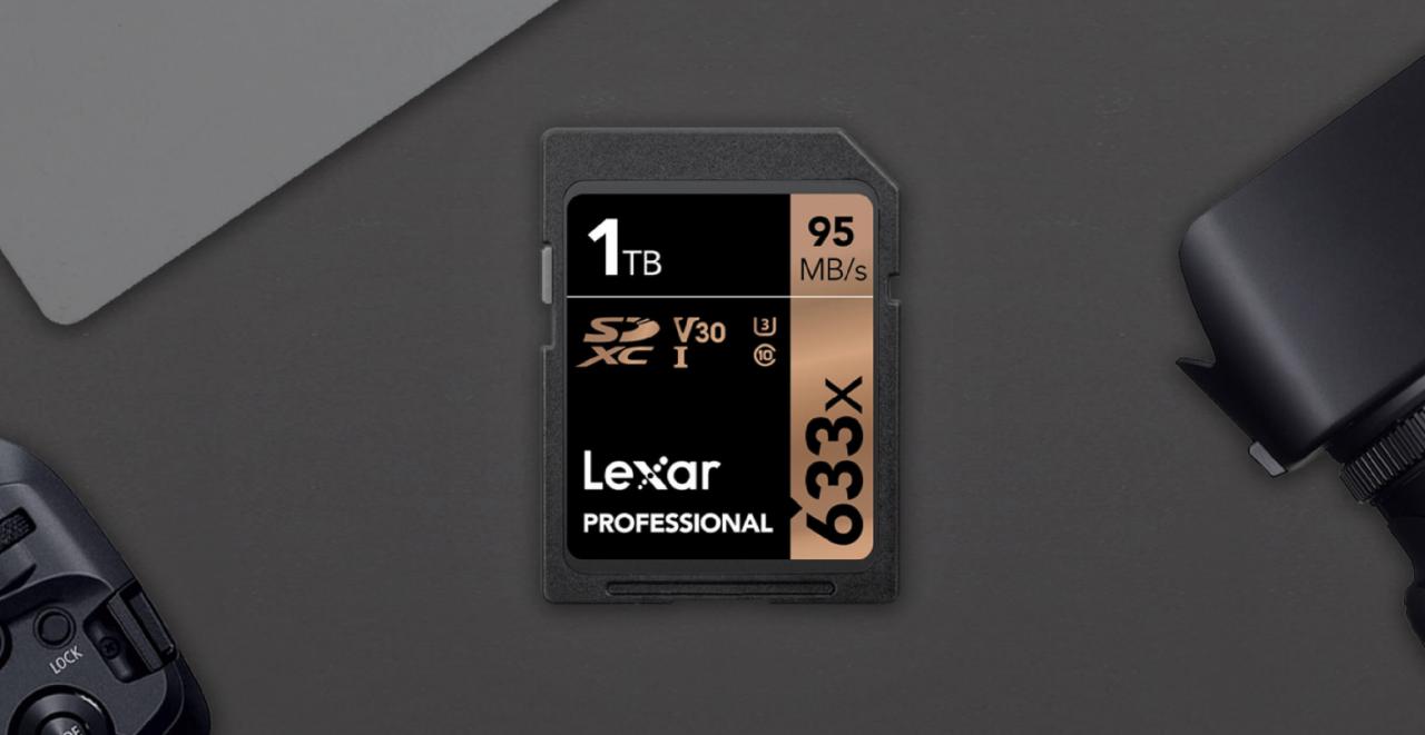 拍好拍滿!Lexar 第一款「1TB」記憶卡問世,一張可以存4萬多張照片
