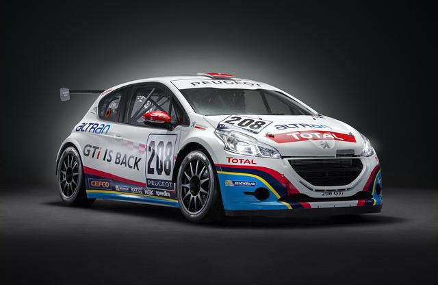 2013 Nurburgring 24小時耐久賽 Peugeot 208 GTi 得到分組冠軍