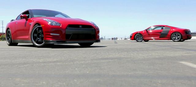 Audi R8 V10 Plus挑戰 Nissan GT-R,東瀛戰神竟讓車手開到打哈欠?【影片】