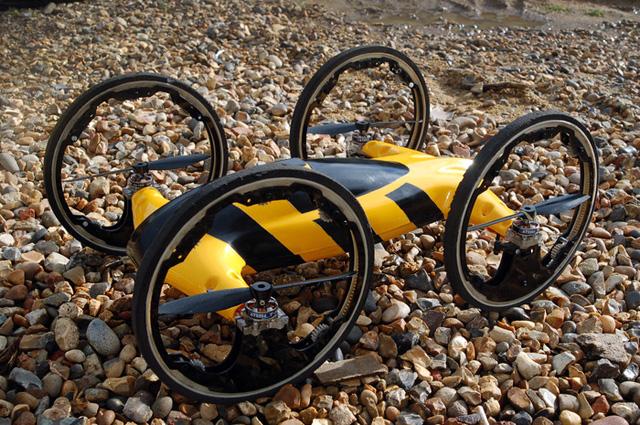 結合越野車與直升機的玩具遙控飛天車【影片】