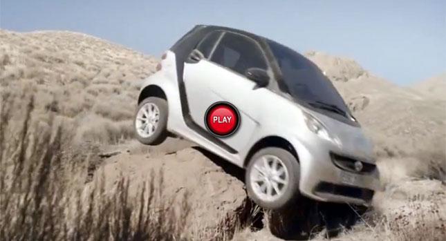 本日最幽默 : Smart汽車取笑自家 ForTwo都會小車的超遜越野功能