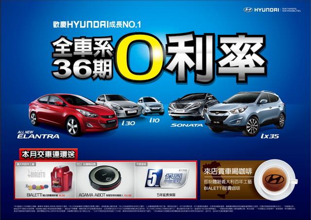HYUNDAI ix35 2.4L 4WD旗艦款優惠總值9萬元! 全車系再推高額度36期0利率