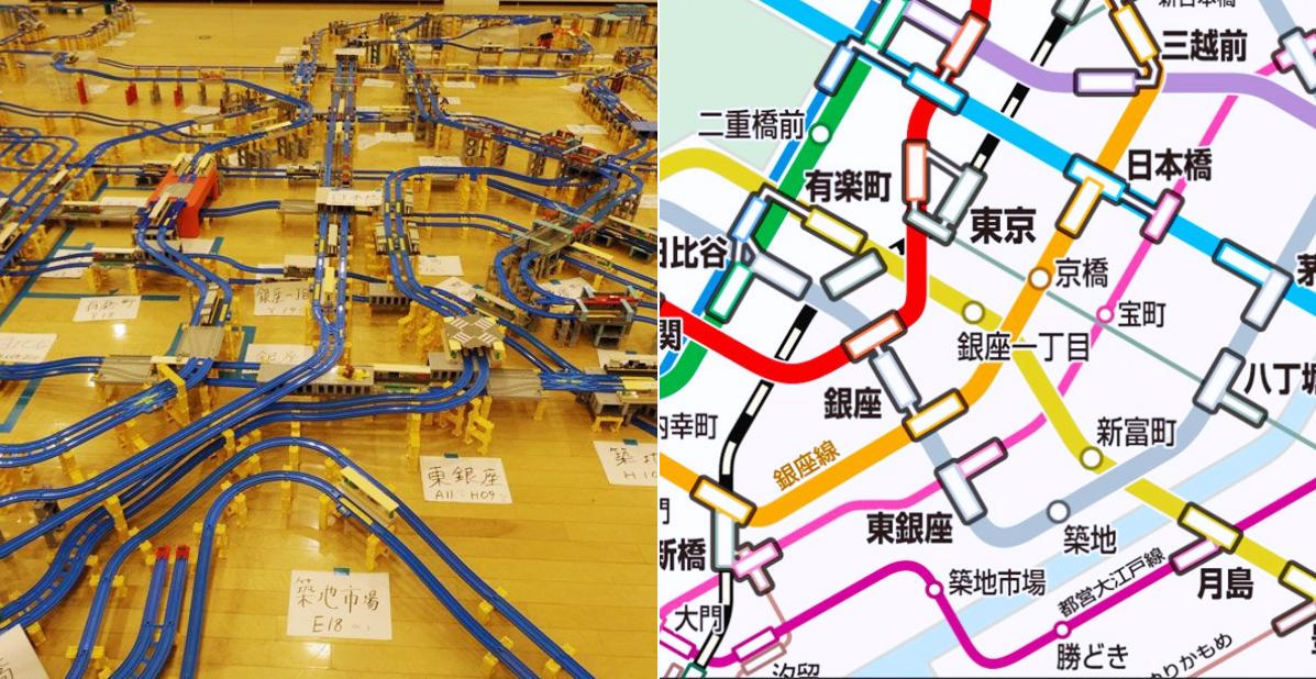 東京地鐵神還原!日本鐵道迷用 TOMY 小火車重建了地鐵全路線