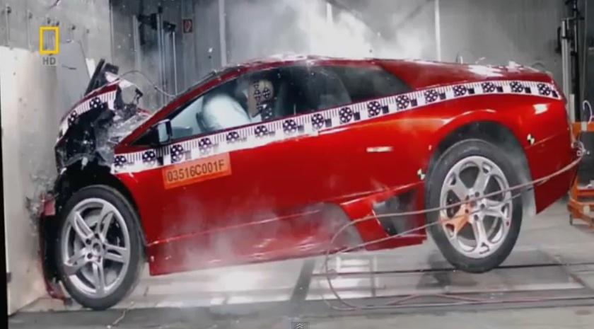 千萬藍寶堅尼大牛超跑(Lamborghini Murcielago)被強迫撞成廢鐵!(愛車人士慎入!)
