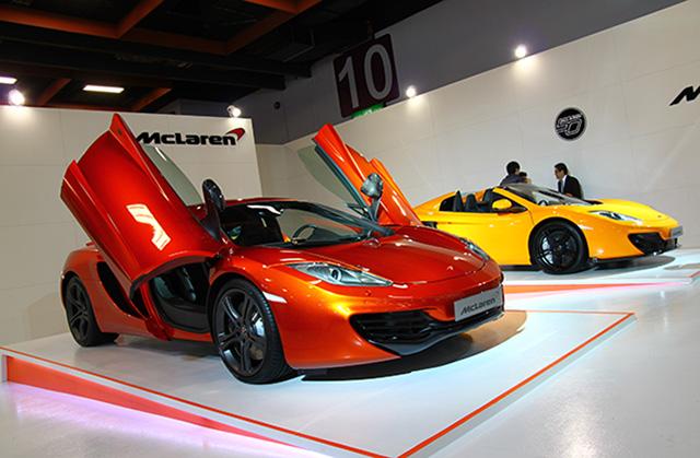 【2014台北車展】McLAREN首次亮相台北車展,全球限量12C SPIDER 50週年限量版與12C聯袂展出