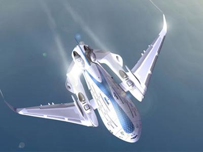 三層樓高的【飛天鯨】概念綠能空中巴士,油電動力推進器可滑行垂直升空!