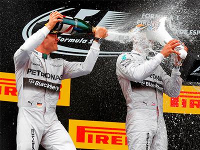 Mercedes-AMG PETRONAS F1車隊強勢不減,西班牙站奪下冠亞軍!