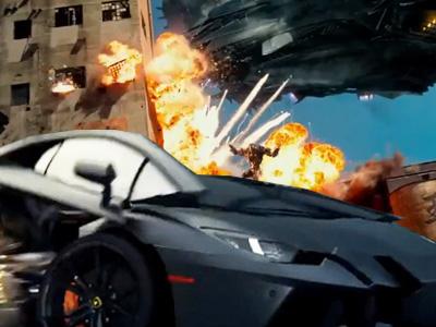 變形金剛4最新預告!藍寶堅尼 Lamborghini Aventador 賞金獵人金剛曝光!