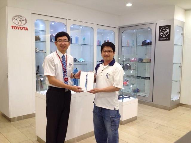 TOYOTA冷氣健診活動,歡喜送出iPad Air大獎!
