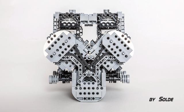 Solde打造出 Bugatti Veyron的 Lego(樂高)版 W16引擎