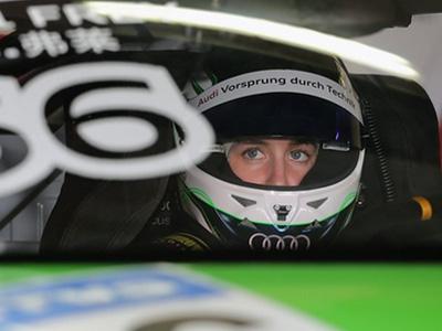2014 Audi R8 LMS Cup亞洲巡迴賽唯一女車手拉埃爾‧弗萊總積分搶進前三!