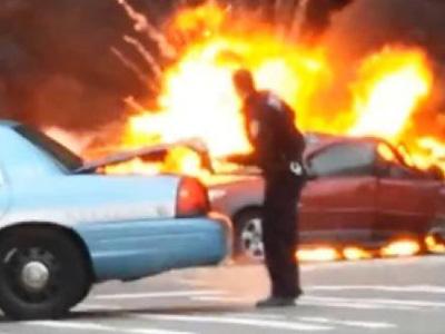 直昇機與消防車擦撞後爆炸!一切都是酒駕惹的禍!