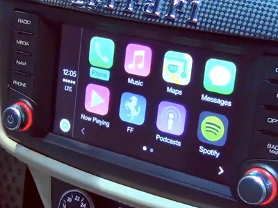 Apple Car Play系統將出現在40款新車身上!連法拉利都裝了!