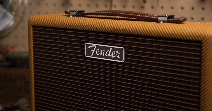 美式復古味爆棚!Fender 再推 Monterey Tweed 藍牙音箱,金黃色布網、焦糖色牛皮把手重現經典